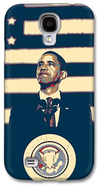 Barack Obama With American Flag 4 Galaxy S4 Case