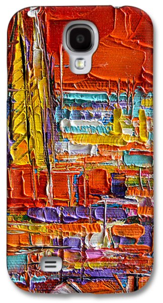 Barcelona View From Parc Guell - Abstract Miniature Galaxy S4 Case
