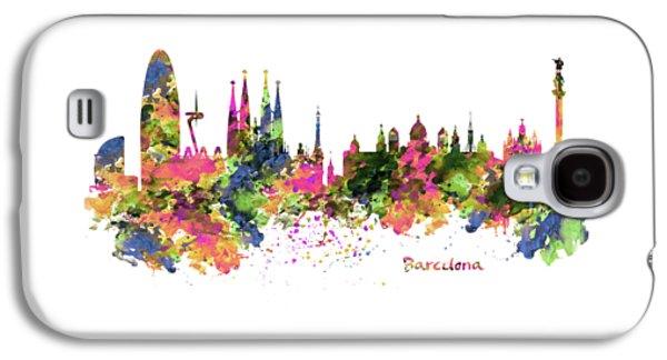 Barcelona Watercolor Skyline Galaxy S4 Case