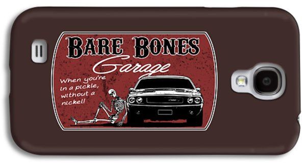 Bare Bones Garage Challenger Galaxy S4 Case by Paul Kuras