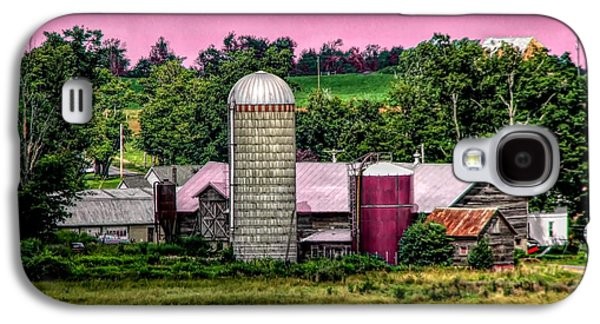 Barn And Silo With Infrared Touch Of Pink Effect Galaxy S4 Case