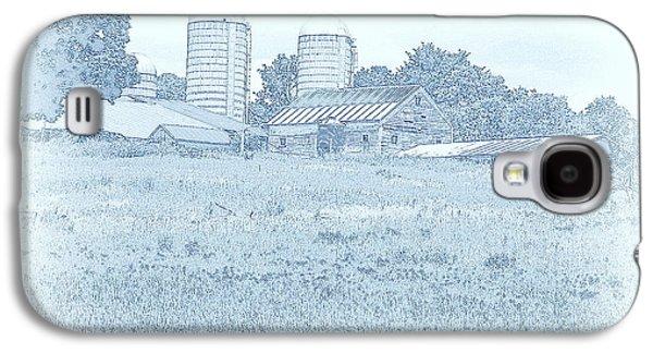 Barn In Blue Galaxy S4 Case by Susan Lafleur