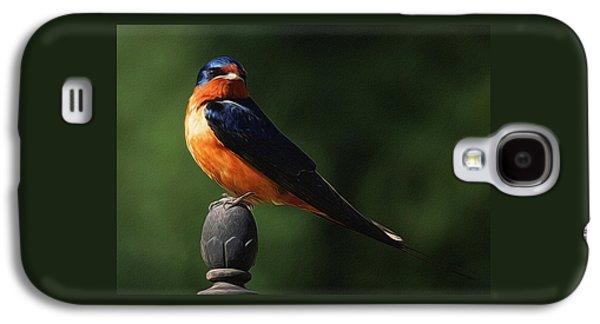 Barn Swallow Digital Art Galaxy S4 Case