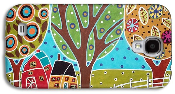 Barn Trees And Garden Galaxy S4 Case by Karla Gerard
