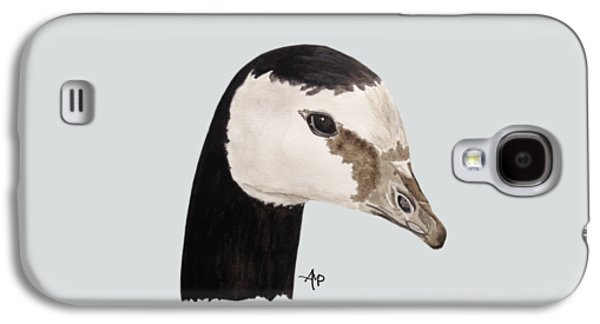 Barnacle Goose Portrait Galaxy S4 Case by Angeles M Pomata