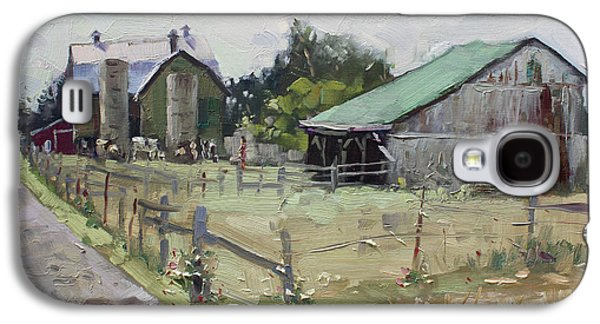 Barns And Old Shack In Norval Galaxy S4 Case