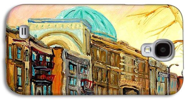 Baron Byng High School Rue St Urbain Montreal Memories Street Scene Canadian Art Carole Spandau Galaxy S4 Case