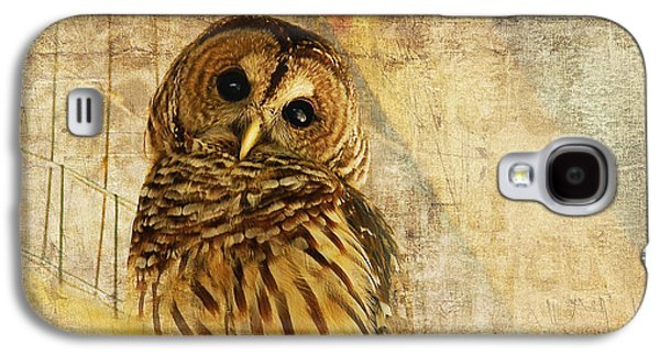 Barred Owl Galaxy S4 Case by Lois Bryan