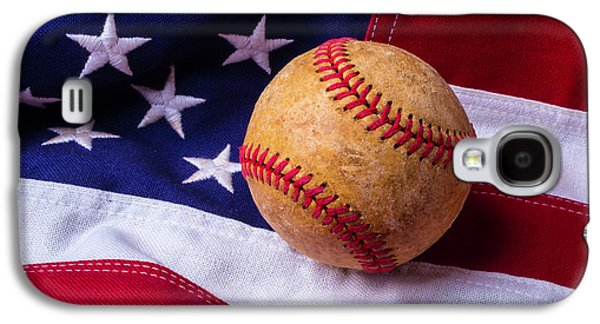 Baseball And American Flag Galaxy S4 Case