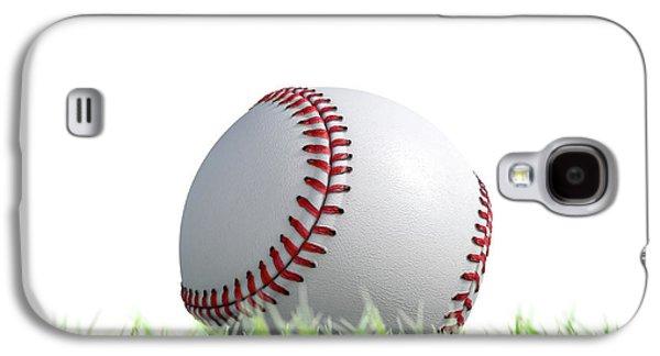 Baseball Ball Resting On Grass Galaxy S4 Case