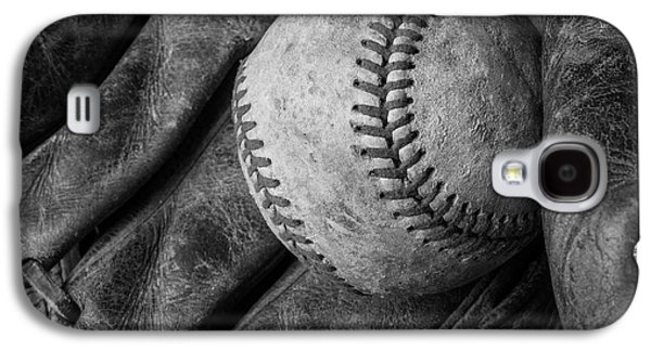 Baseball Black And White Galaxy S4 Case by Garry Gay