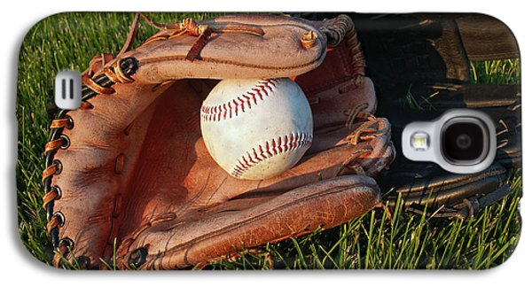 Baseball Gloves After The Game Galaxy S4 Case by Anna Lisa Yoder