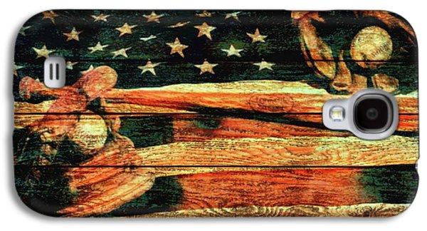 Baseball Grunge Barn Door Galaxy S4 Case by Dan Sproul