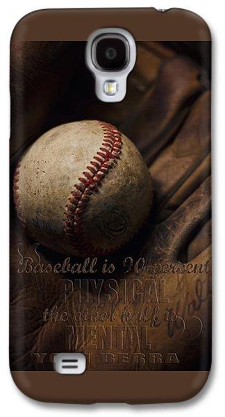 Baseball Yogi Berra Quote Galaxy S4 Case by Heather Applegate