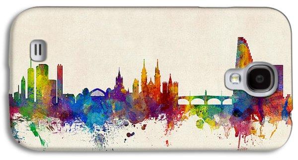 Basel Switzerland Skyline Galaxy S4 Case by Michael Tompsett
