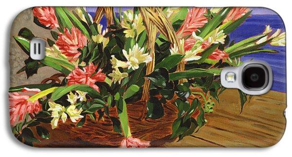 Basket Of Hyacinths Galaxy S4 Case
