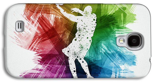 Basketball Player Art 01 Galaxy S4 Case by Aged Pixel