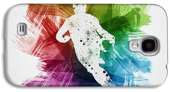 Basketball Player Art 08 Galaxy S4 Case by Aged Pixel