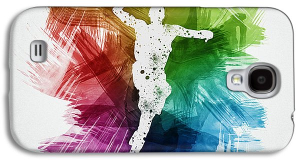 Basketball Player Art 09 Galaxy S4 Case by Aged Pixel