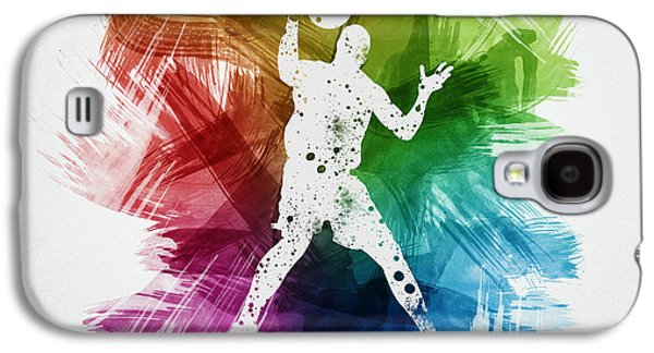 Basketball Player Art 11 Galaxy S4 Case by Aged Pixel