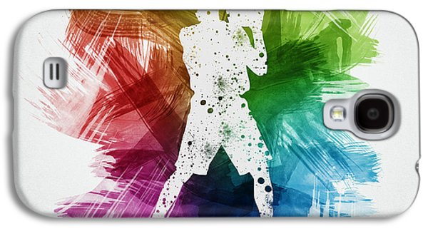 Basketball Player Art 13 Galaxy S4 Case by Aged Pixel