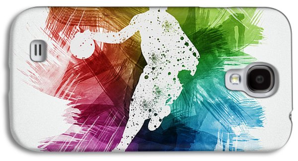 Basketball Player Art 14 Galaxy S4 Case by Aged Pixel