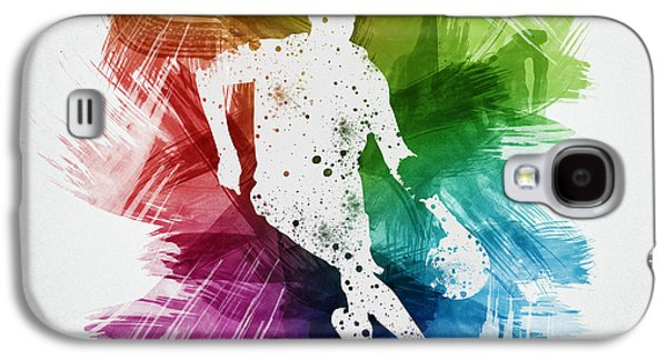 Basketball Player Art 15 Galaxy S4 Case by Aged Pixel