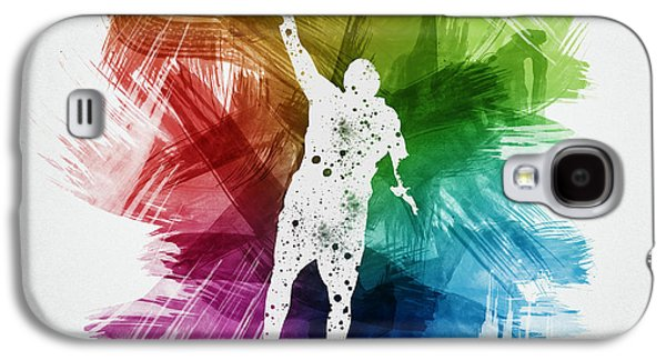Basketball Player Art 19 Galaxy S4 Case by Aged Pixel
