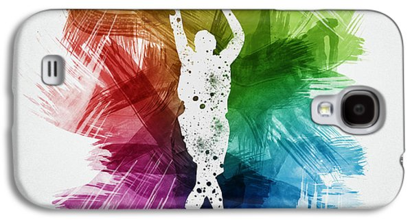 Basketball Player Art 22 Galaxy S4 Case by Aged Pixel
