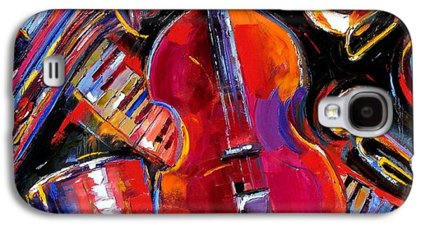 Saxophone Galaxy S4 Case - Bass And Friends by Debra Hurd