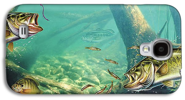 Largemouth Bass Galaxy S4 Case - Bass Lake by JQ Licensing