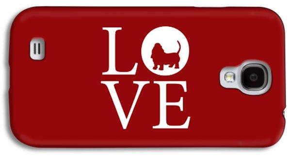 Bassett Love Red Galaxy S4 Case by Nancy Ingersoll