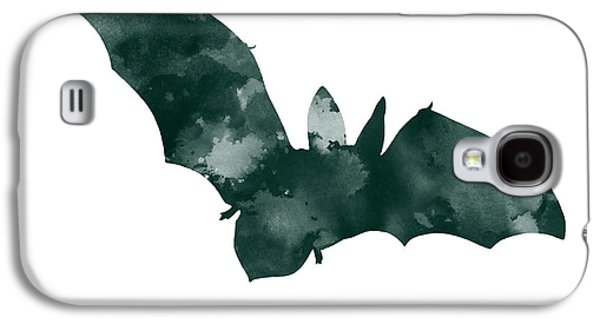 Bat Minimalist Watercolor Painting For Sale Galaxy S4 Case by Joanna Szmerdt