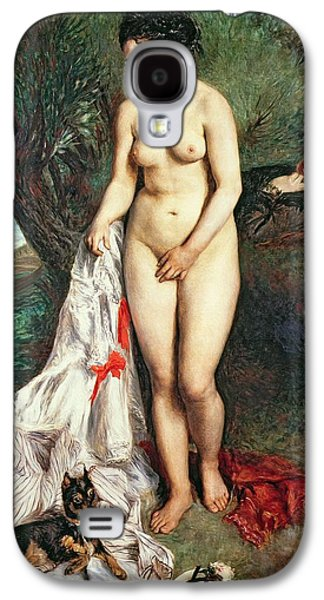 Bather With A Griffon Dog Galaxy S4 Case by Pierrre Auguste Renoir