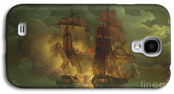 Battle Between The Arethuse And The Amelia Galaxy S4 Case by Louis Philippe Crepin