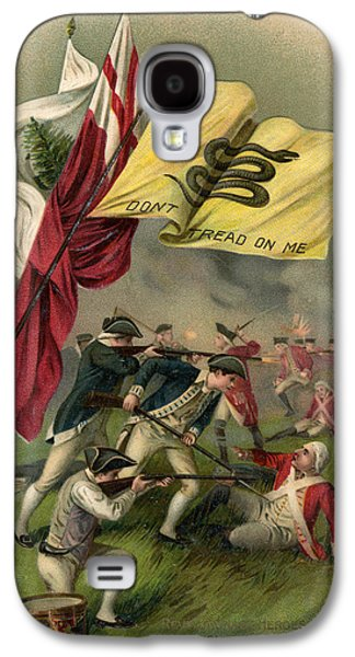 Battle Of Bunker Hill With Gadsden Flag Galaxy S4 Case by American School