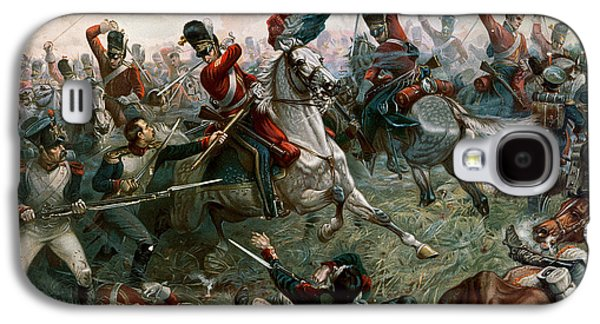 Flag Paintings Galaxy S4 Cases - Battle of Waterloo Galaxy S4 Case by William Holmes Sullivan