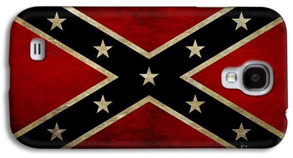 Battle Scarred Confederate Flag Galaxy S4 Case by Randy Steele