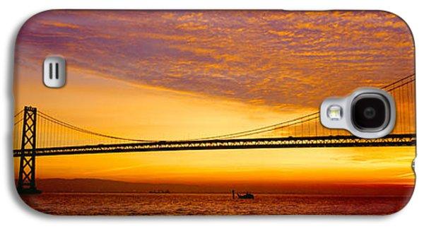 Bay Bridge At Sunrise, San Francisco Galaxy S4 Case by Panoramic Images