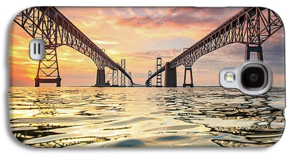 Bay Bridge Impression Galaxy S4 Case by Jennifer Casey