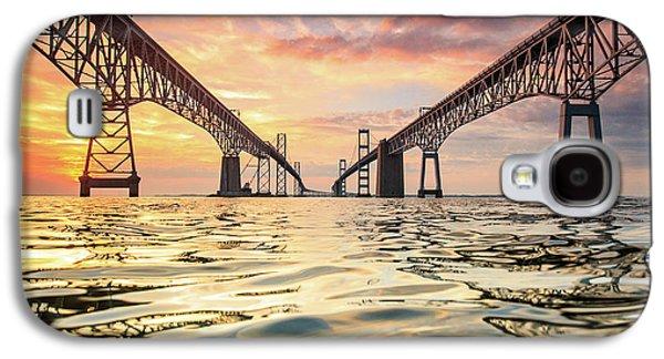 Bridges Galaxy S4 Case - Bay Bridge Impression by Jennifer Casey
