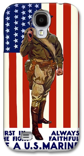 Flag Mixed Media Galaxy S4 Cases - Be A US Marine Galaxy S4 Case by War Is Hell Store