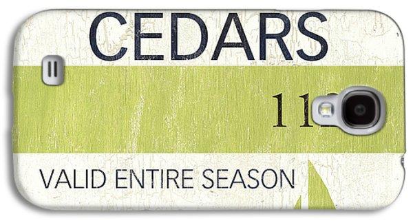 Beach Badge Harvey Cedars Galaxy S4 Case by Debbie DeWitt