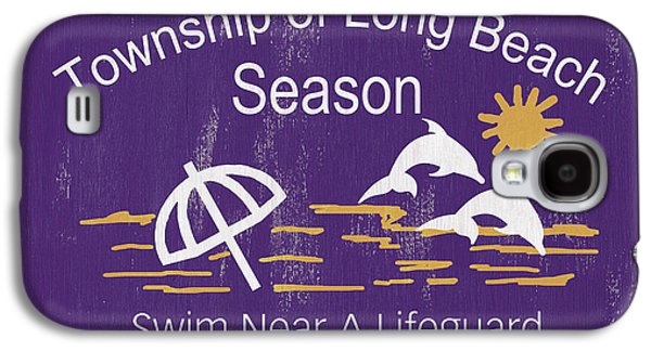 Beach Badge Long Beach Galaxy S4 Case by Debbie DeWitt