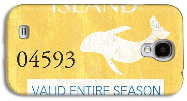 Beach Badge Long Beach Island Galaxy S4 Case