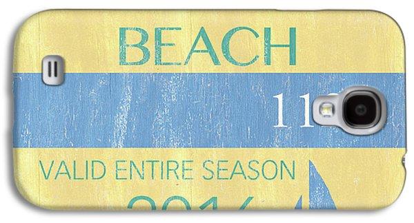 Beach Badge Normandy Beach 2 Galaxy S4 Case by Debbie DeWitt