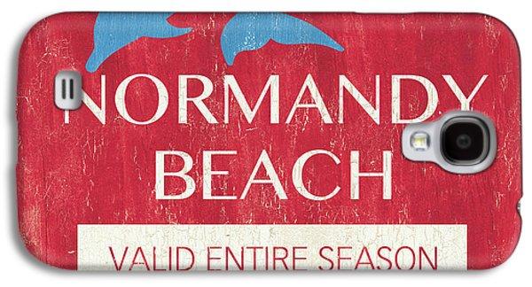Beach Badge Normandy Beach Galaxy S4 Case