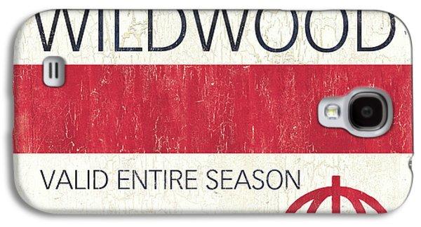 Beach Badge Wildwood 2 Galaxy S4 Case