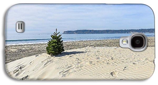 Beach Christmas Galaxy S4 Case by Keith Ducker