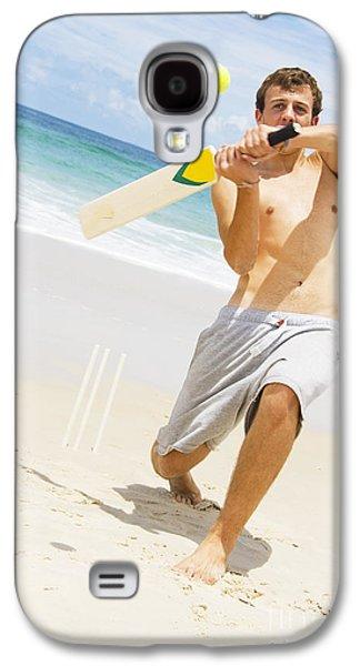 Beach Cricket Slog Galaxy S4 Case